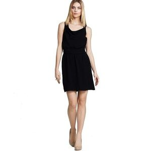Theory Black Silk Mini Dress